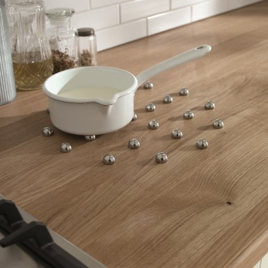 Recessed stainless steel trivet worktop savers