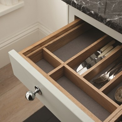 Solid Oak cutlery drawer