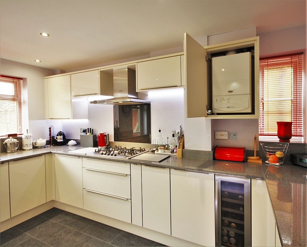 Great notley essex kitchencraft for Kitchen unit for boiler