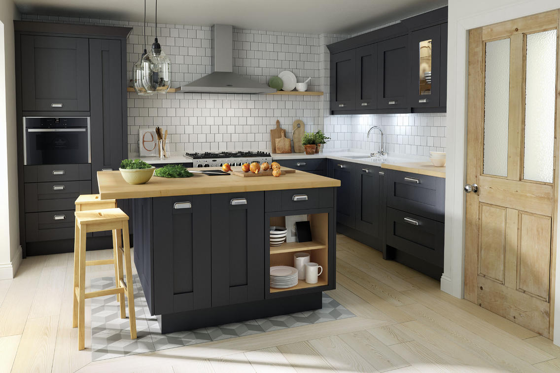 Charcoal kitchen ideas for Charcoal gray kitchen cabinets