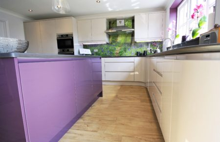 Cashmere and Aubergine Kitchen Design - Witham Essex