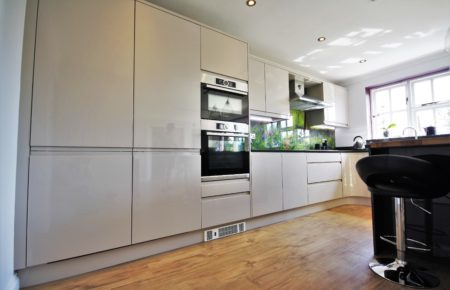 Handless Gloss Kitchen Design in the colour Cashmere - Witham Essex