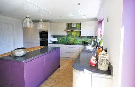 Cashmere and Aubergine kitchen Design Great Totham, Essex