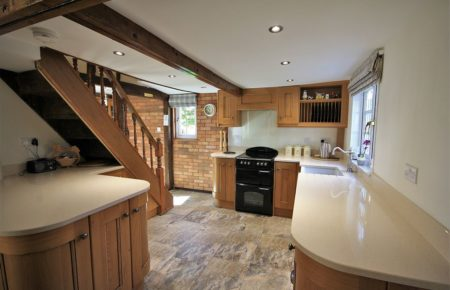 Croft Oak Kitchen with Curved Units Country Style Kitchen - Faulkbourne Witham