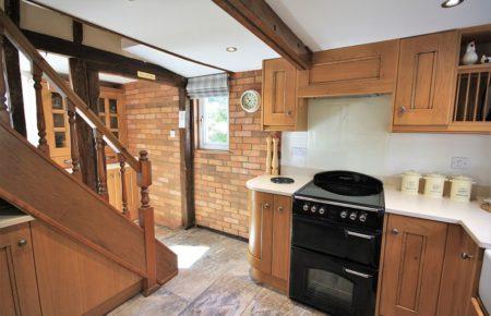 Croft Oak Kitchen Design with Glazed Kitchen Dresser - Witham Essex